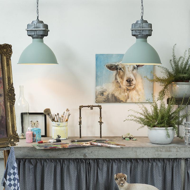 Set van 2 hanglampen Sicko klein groen | QAZQA | 8718881075353