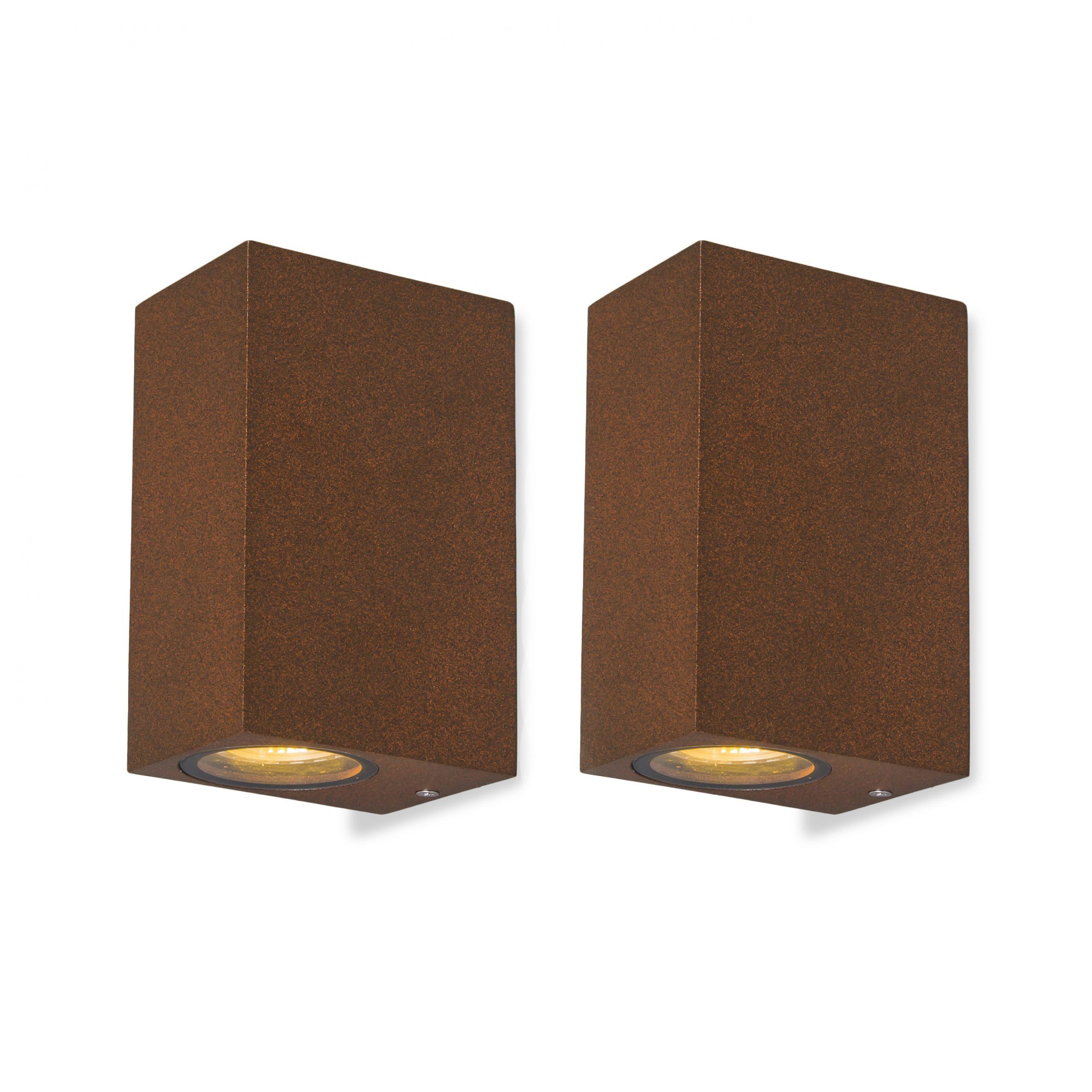 Set van 2 wandlampen Baleno II roestbruin   QAZQA   8718881079320