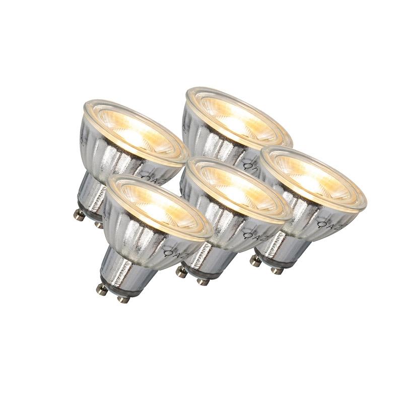 Set van 5 GU10 LED lamp 7W 500LM 2700K dimbaar | LUEDD | 8718881074271