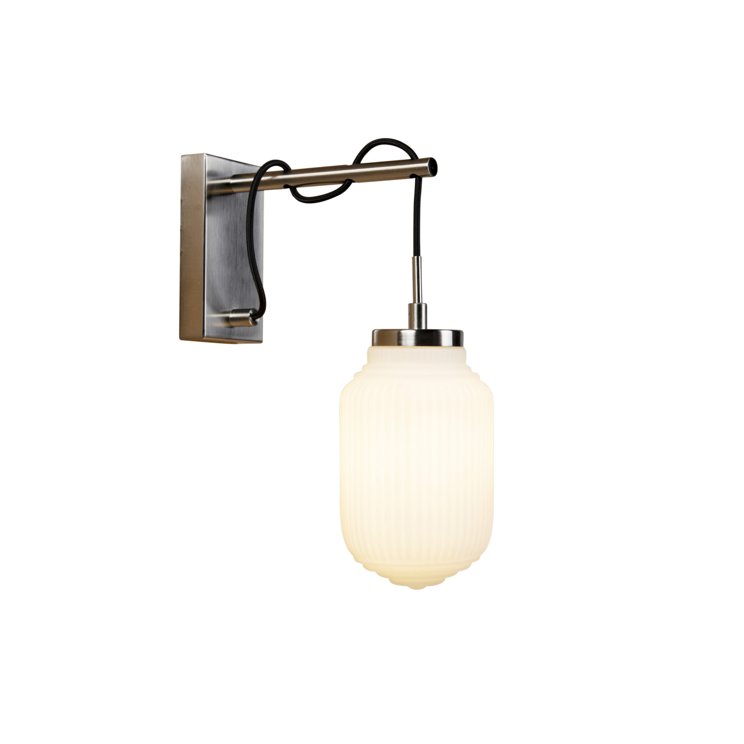 Art deco wandlamp staal met opaal glas – Orta | QAZQA | 8718881082092