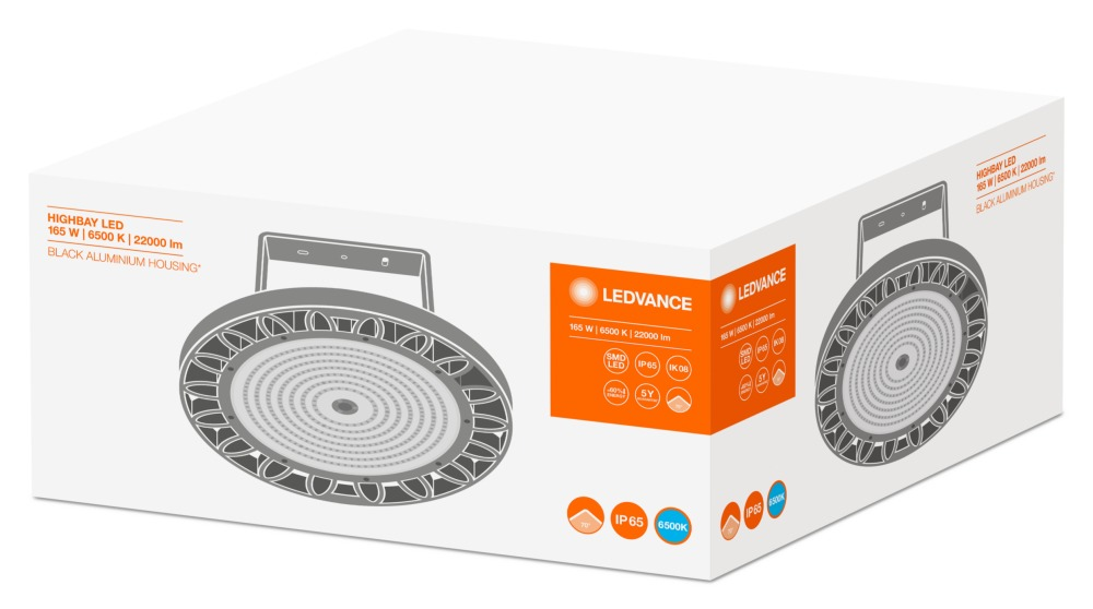 Ledvance LED Highbay 165W 6500K 70D   Vervangt 250W   Ledvance   4058075074378