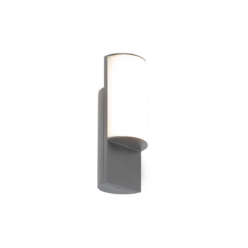 Moderne buitenwandlamp donkergrijs incl. LED – Harry | QAZQA | 8718881083723