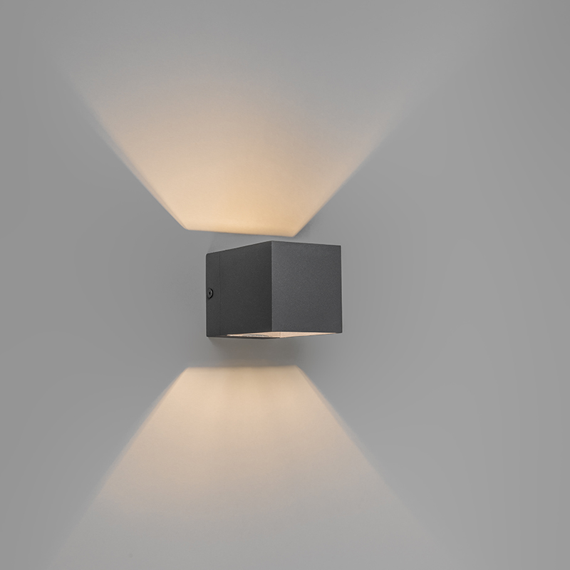 Wandlamp Transfer donkergrijs   QAZQA   8718881036064
