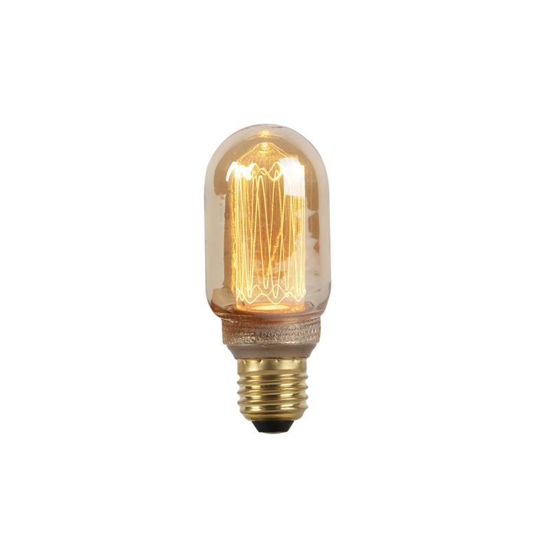 E27 LED filament kogellamp met amberkleurig glas 2.5W 120 lumen 1800K | LUEDD | 8718881084669