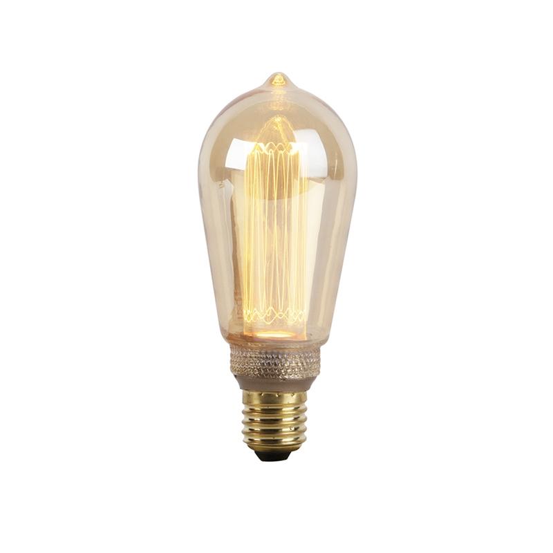 E27 LED filamentlamp met amberkleurig glas 2.5W 120 lumen 1800K | LUEDD | 8718881084652