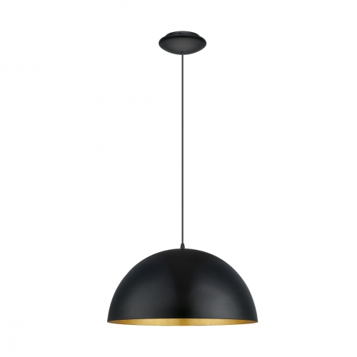 Eglo Hanglamp Gaetano 1 zwart – goud 94936 | 9002759949365