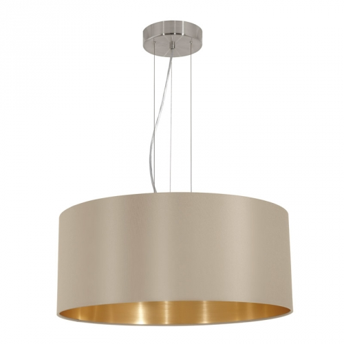 Eglo Landelijke hanglamp Maserlo Beige/Goud 31607   9002759316075