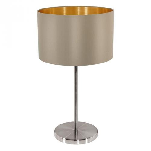 Eglo Landelijke tafellamp Maserlo Beige/Goud 31629 | 9002759316297
