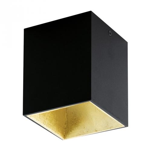 Eglo opbouwspot Polasso Zwart/Goud 94497 | 9002759944971