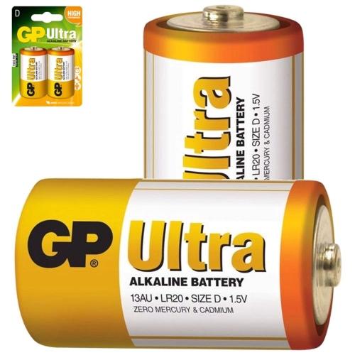GP Alkaline batterijen Battery – D Size – LR20 3012530   4891199034442