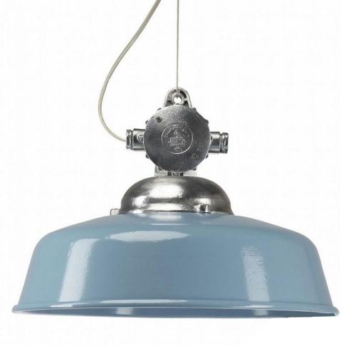 KS Verlichting Hanglamp Detroit Industry retro blauw 6587   8714732658706