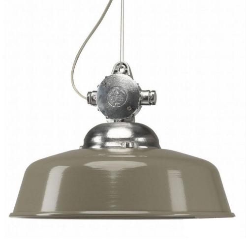 KS Verlichting Hanglamp industrie Detroit antiek taupe 6586   8714732658607