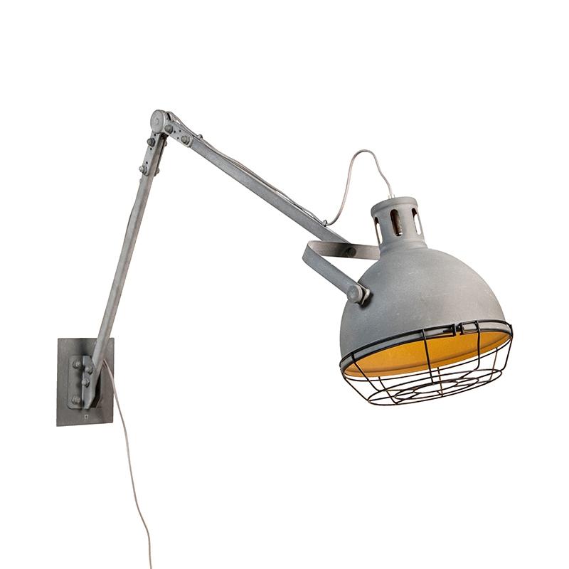 Landelijke verstelbare wandlamp betonlook – Rela | QAZQA | 8718881082412