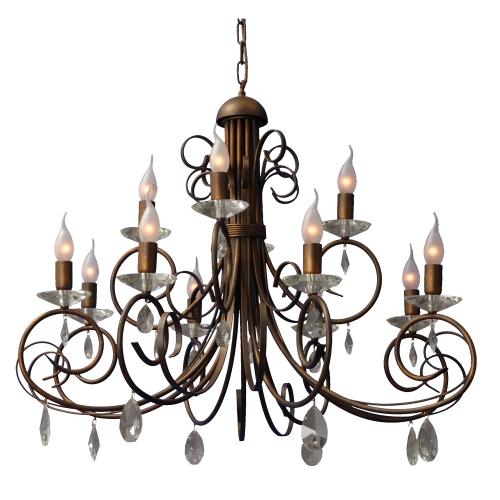 Masterlight Bronzen kroonluchter Roma 2557-21 | 8718121006260
