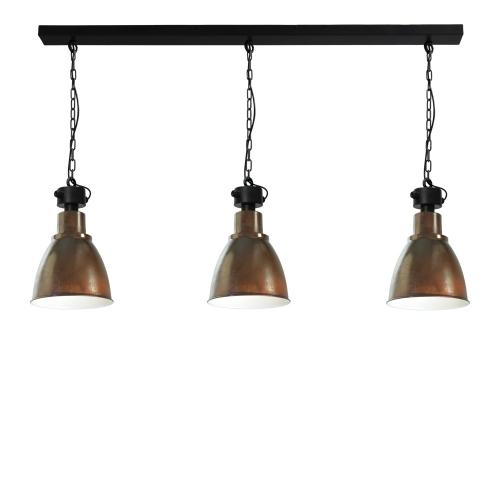 Masterlight Landelijke eettafellamp Industria 3×27 2007-25-06-EH-K-130-3 | 8718121158662