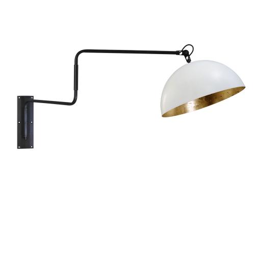 Masterlight Verstelbare wandleeslamp Industria Gold 3198-06-08 | 8718121155319