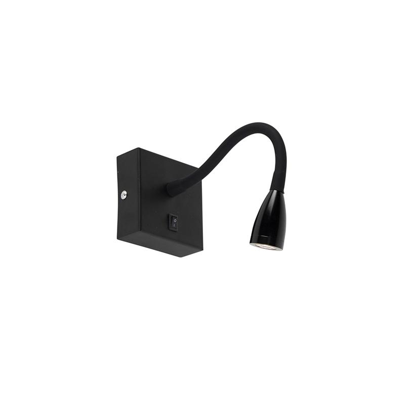 Moderne flexibele wandlamp LED zwart – Flex | QAZQA | 8718881090080