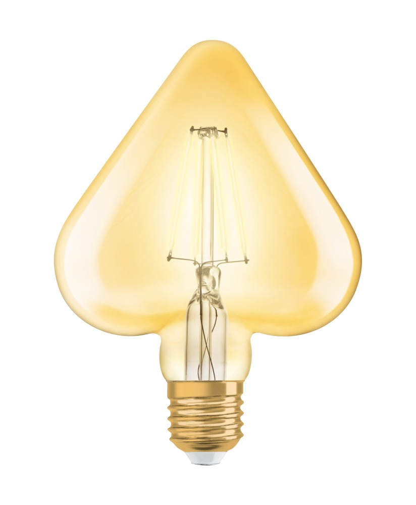 Osram Vintage 1906 LED E27 Heart 4.5W 825 Goud | Vervangt 40W | Osram | 4058075092099