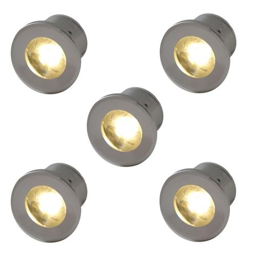 Outlight Led inbouwspots Forte Mini (5 x) 230 volt VY005-1w 2700K   8716803502321