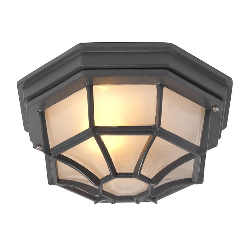 Plafondlamp Bri L donkergrijs | QAZQA | 8718881057786