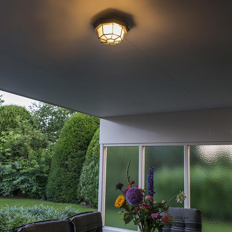 Plafondlamp Bri donkergrijs | QAZQA | 8718881057779