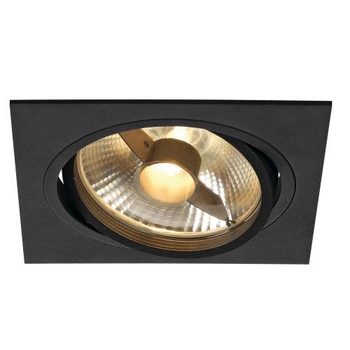 SLV – verlichting Inbouwspot New Tria ES111 met bladveren 113830   4024163150354