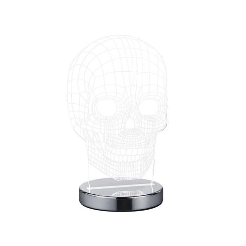 Trio international Tafellamp plexi Skull schedel R52461106   4017807358841
