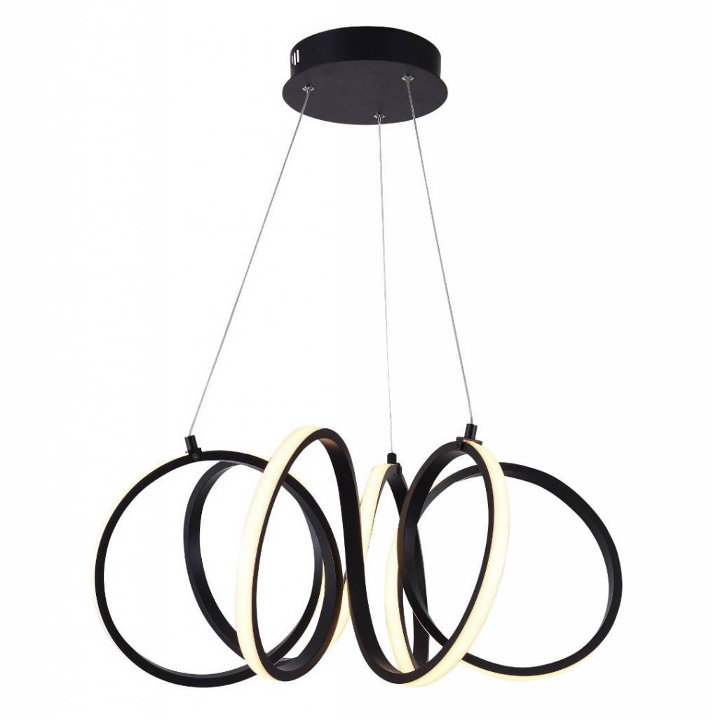 Hanglamp Raffinato Mat Zwart Led 60cm |  | 8718444958543