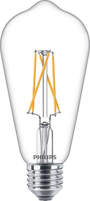 Philips Classic LEDbulb E27 Edison 8.5W 827 Helder   Extra Warm Wit – Dimtone Dimbaar – Vervangt 60W   Philips   8718696810835