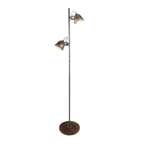 Vloerlamp Woody Vintage Old Grey      8718444958512