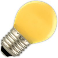 Kogellamp LED geel 1W (vervangt 5W) grote fitting E27   8712879115274