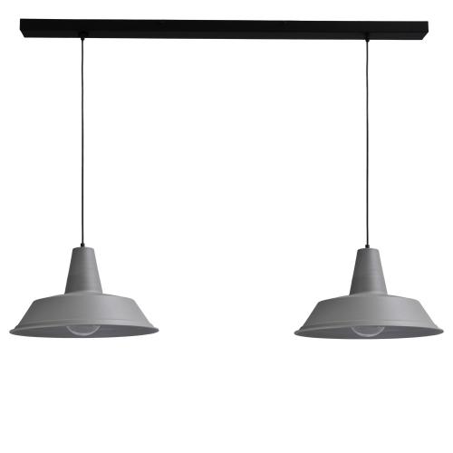 Masterlight Betongrijze eettafellamp Industria 2×45 2547-00-130-2 | 8718121153735