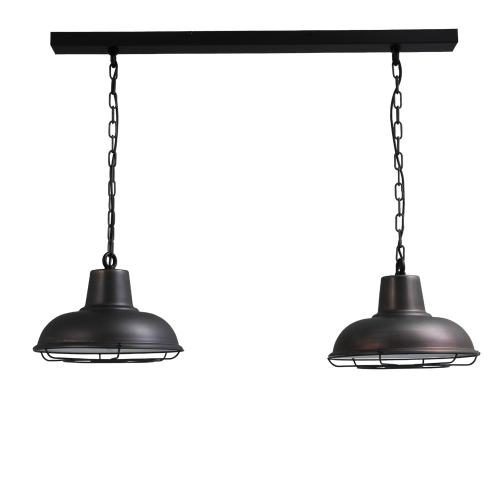 Masterlight Stoere eettafellamp Industria 2×36 2046-30-C-K-100-2 | 8718121153360