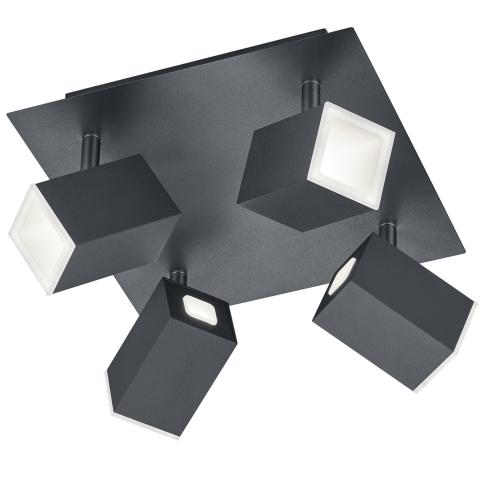Trio international Led plafondspot Lagos 4-lichts 827830432 | 4017807383850