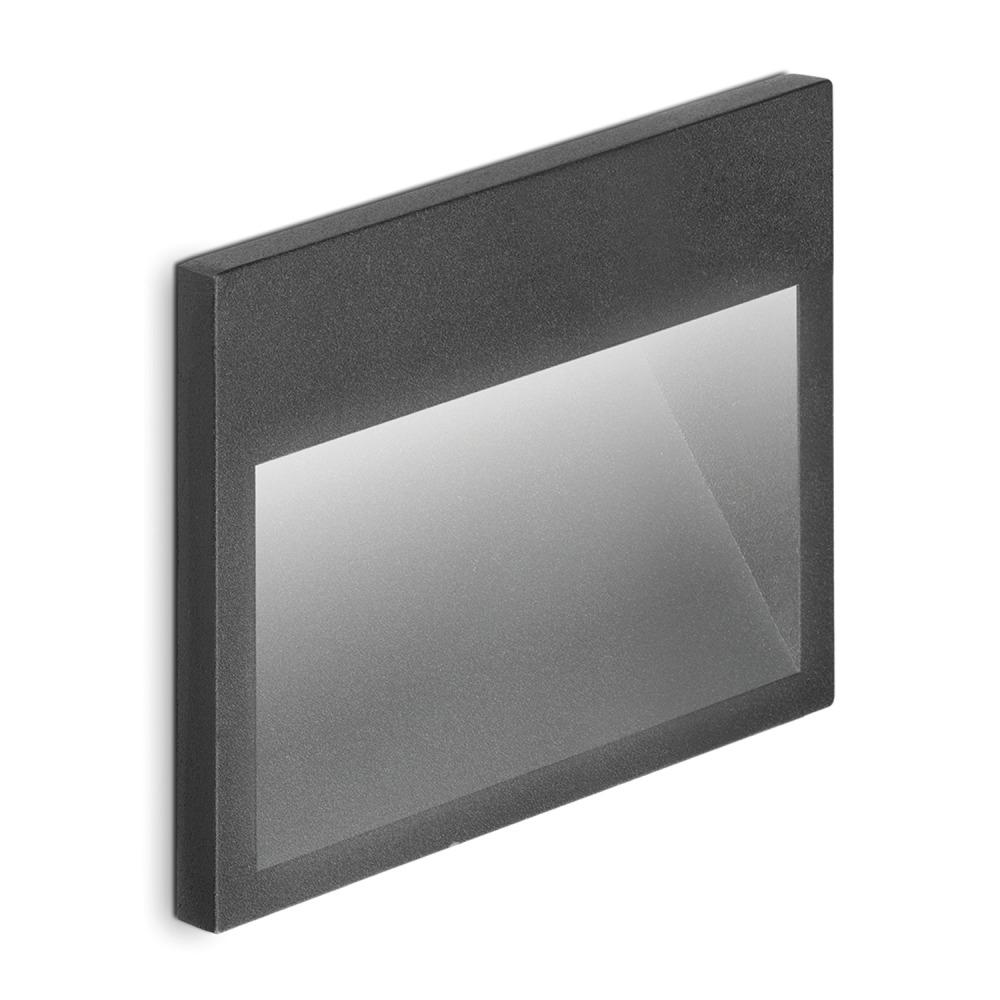 Lampdirect Kat Inbouw LED Wandlamp IP65 3W 840 180Lm Antraciet | Koel Wit | Lampdirect | 8434457003550