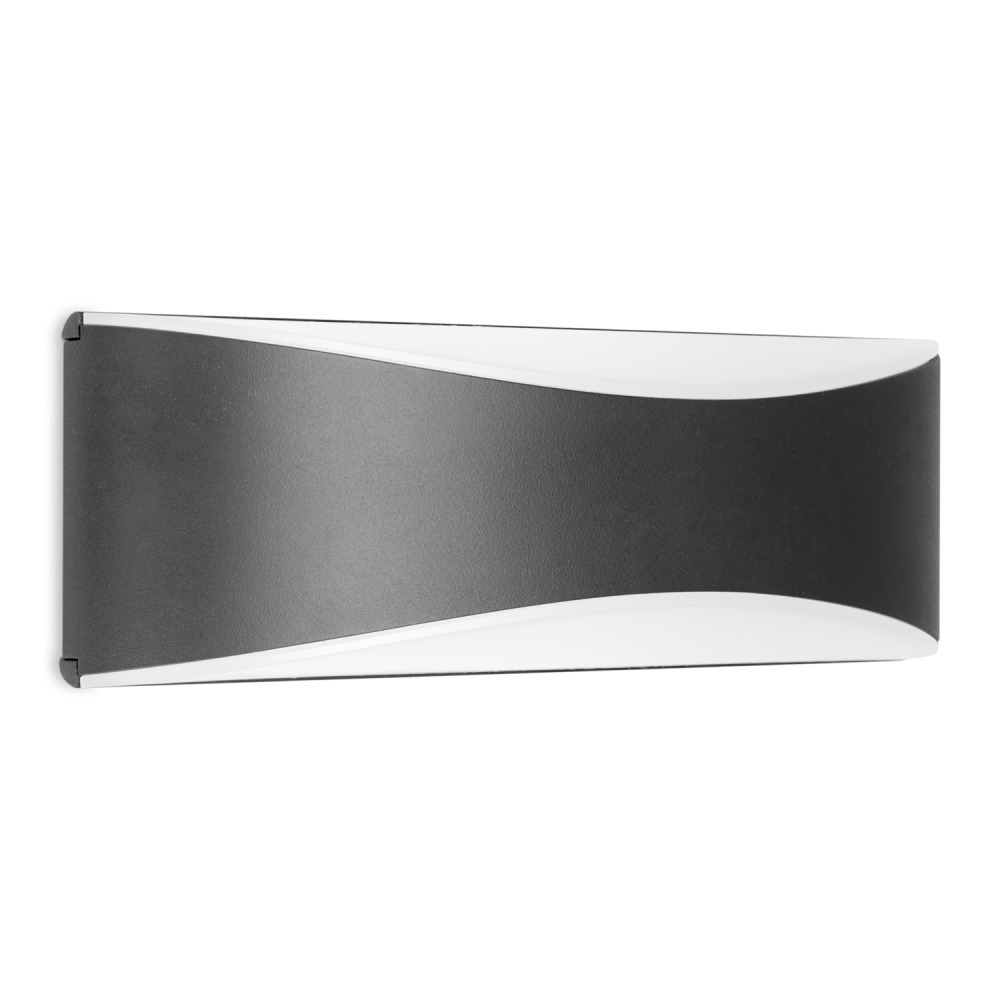 Lampdirect Mask Up/Down LED Wandlamp IP65 10W 830 750lm Antraciet   Warm Wit   Lampdirect   8434457003918