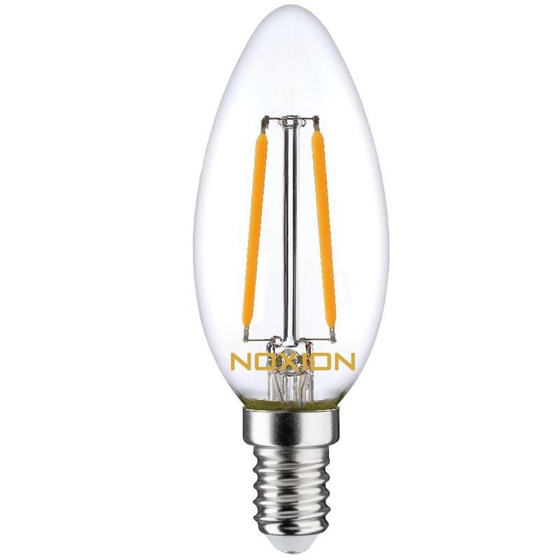 Noxion Lucent Filament LED Candle B35 E14 2.7W 827 | Extra Warm Wit – Dimbaar – Vervangt 25W | Noxion | 8719157005807