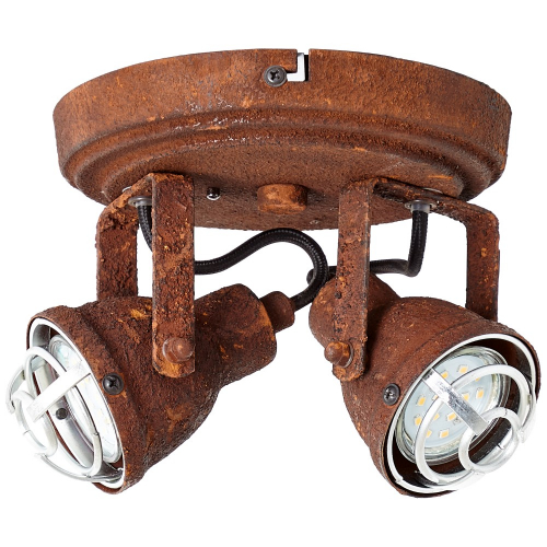Brilliant Industriële plafondspot Bente 2-lichts 26324/60 | 4004353296482