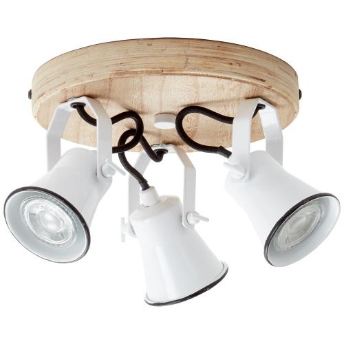 Brilliant Retro plafondspot Seed 3-lichts 82234/05 | 4004353350030