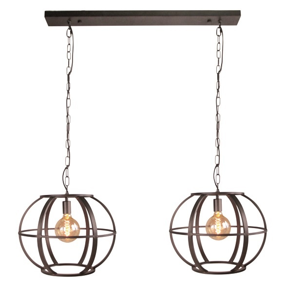 Hanglamp Elara Black Steel 2 x 48cm |  | 7061288203135