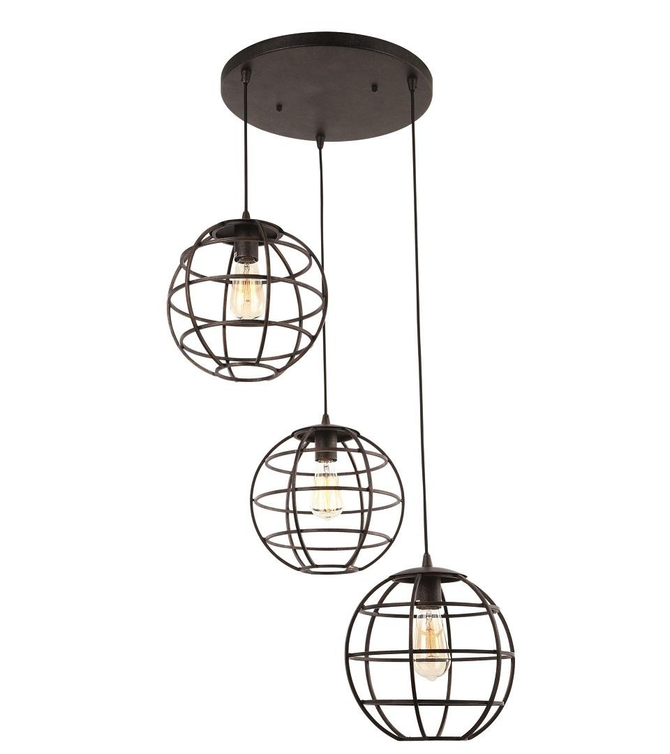 Hanglamp Pianeta Zwart Goud Rond 27cm |  | 8718444958963