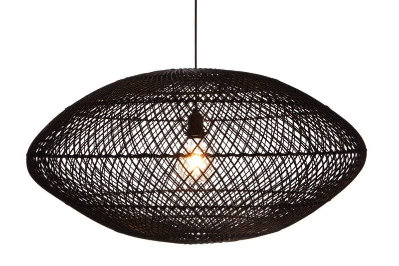 Hanglamp UFO Rotan Zwart 80 cm |  | 7061286601599