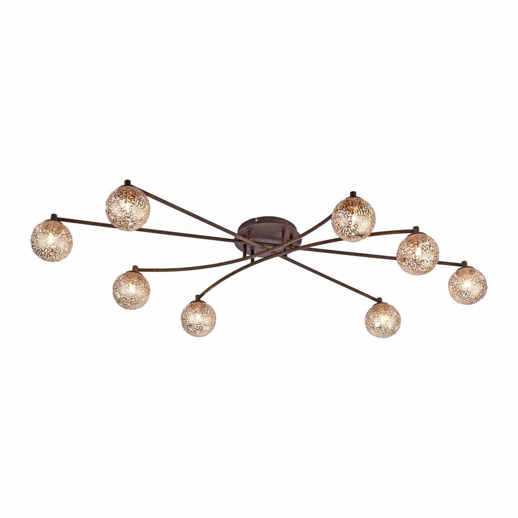 Plafondlamp GRETA Roest 8 Lichts |  | 4012248291337