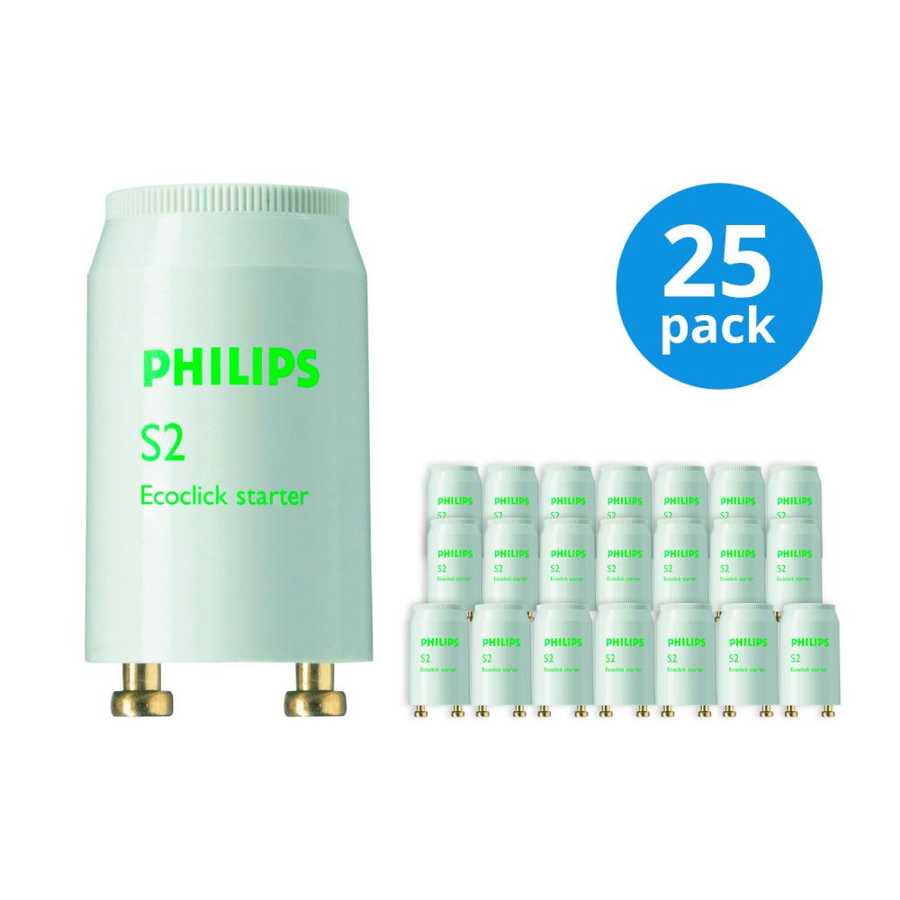 Multipack 25x Philips S2 Starter 4-22W SER   Philips   8711500697721
