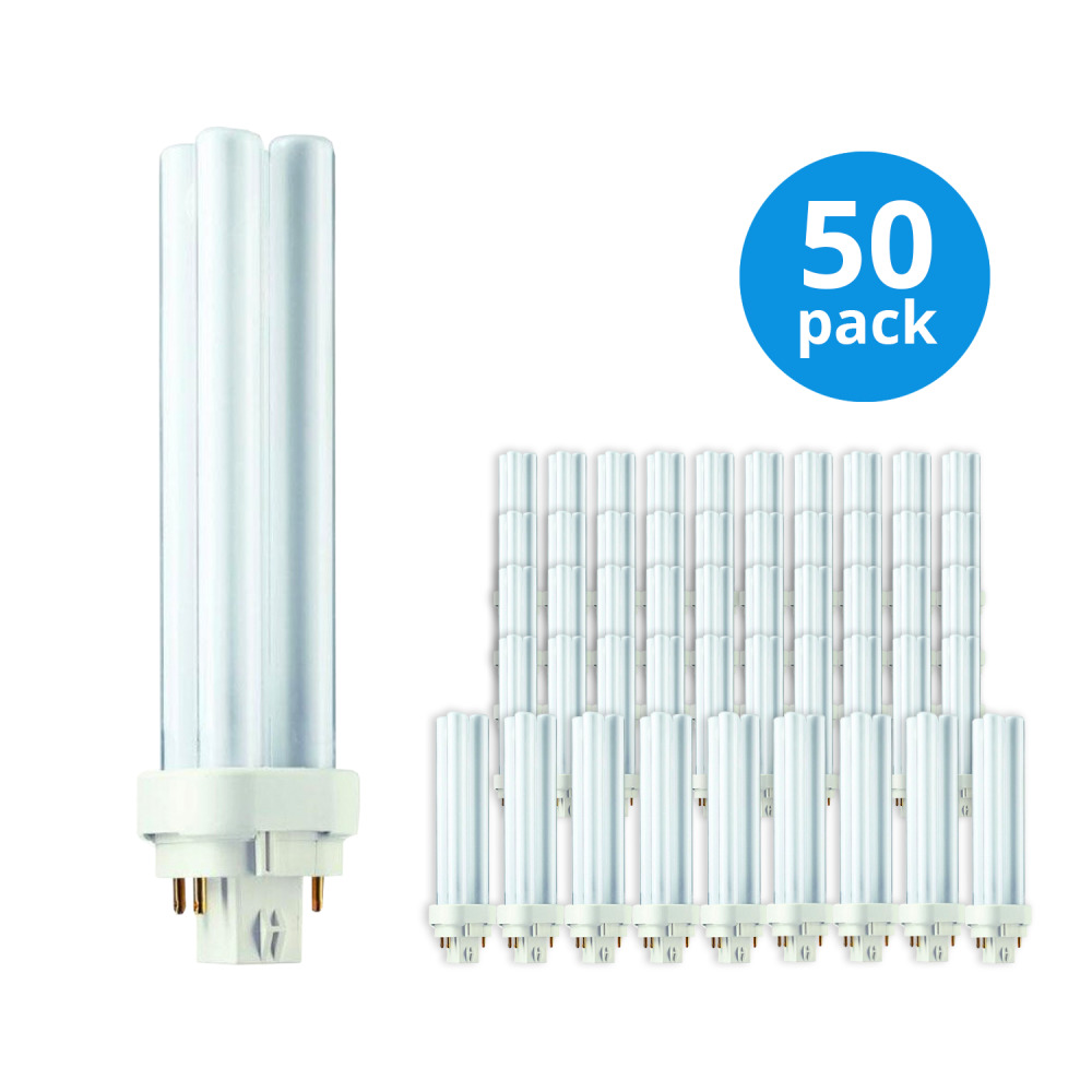 Multipack 50x Philips PL-C 18W 830 2P (MASTER) | Warm Wit – 2-Pin | Philips | 8711500715777