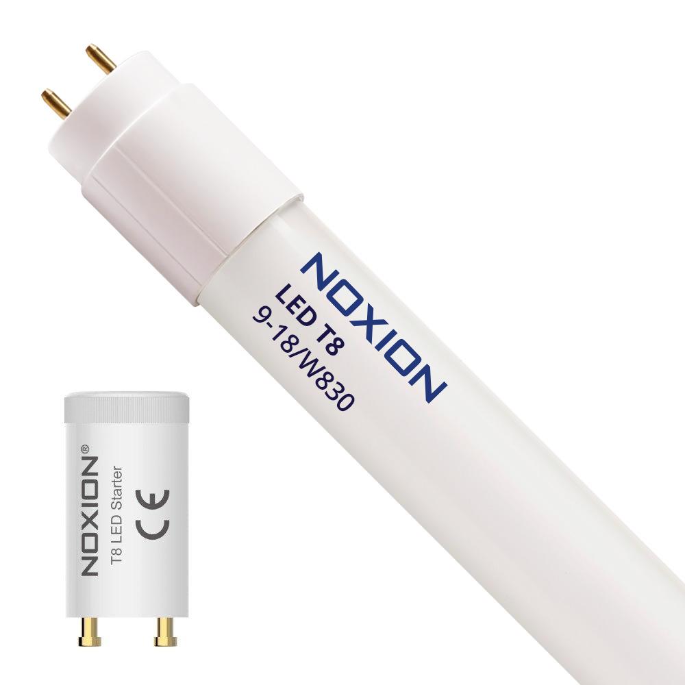 Noxion Avant LED T8 Tube Standaard EM 9W 830 60cm | Warm Wit – incl. LED Starter – Vervangt 18W | Noxion | 8719157008358