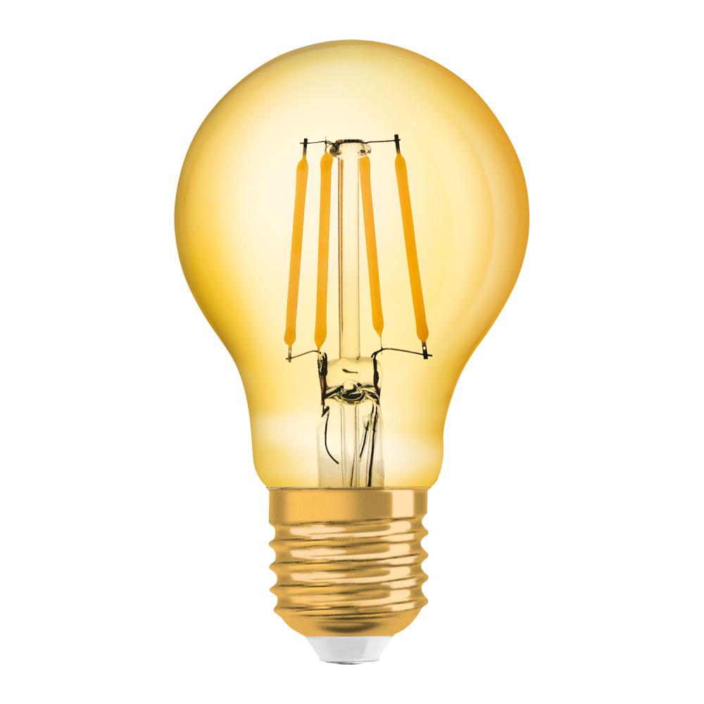 Osram Vintage 1906 LED Classic E27 A 7.5W 825 Filament Goud | Zeer Warm Wit – Vervangt 63W | Osram | 4058075293359