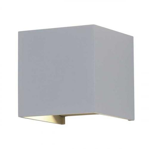 Active Lights Grijze wandspot Cube Square 7453 | 3800156674530