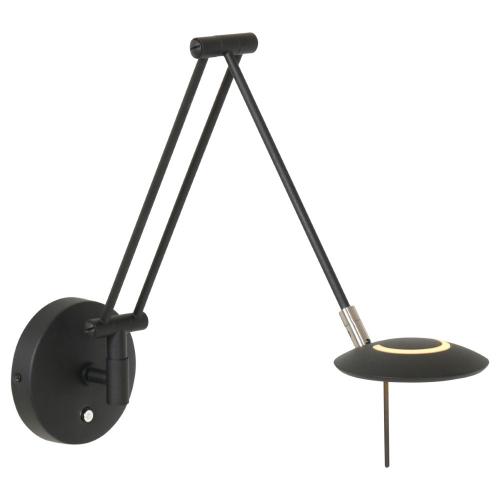 Steinhauer Zwarte leeslamp Zodiac LED voor aan de wand 2110ZW   8712746127331