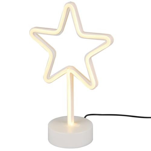 Trio international Tafellamp Star oplaadbaar R55230101 | 4017807429404